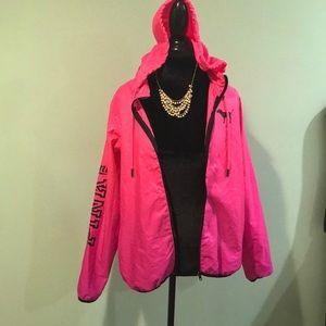 Pink Victoria's Secret windbreaker
